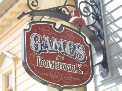 Playing Games on the Boardwalk at Disney's California Adventure