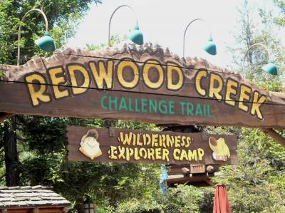 Redwood Creek Challenge Trail Sign (Close) photo