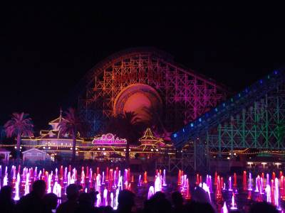 California Adventure - Paradise Pier at night photo