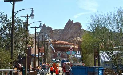 Photo illustrating <font size=1>Disney California Adventure Park - Cars Land