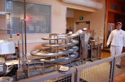 Photo illustrating <font size=1>Pacific Wharf Area:Inside Mission Tortilla Factory