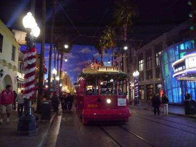 Photo illustrating <font size=1>California Adventure - Red Car Trolley