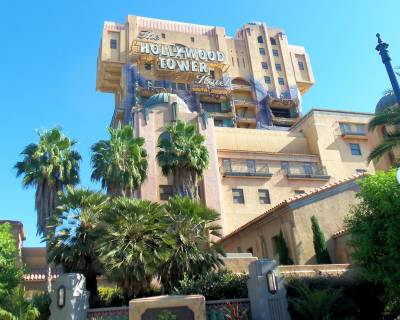 Photo illustrating <font size=1>California Adventure--Hollywood Land--Tower of Terror