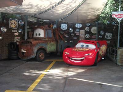 Photo illustrating Mater and Lightning McQueen