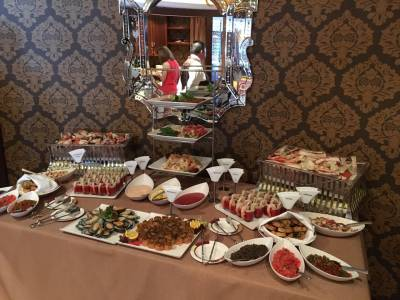 Photo illustrating Buffet table at Palo Brunch