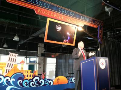 Photo illustrating Disney Cruise Line President Karl Holz in NYC