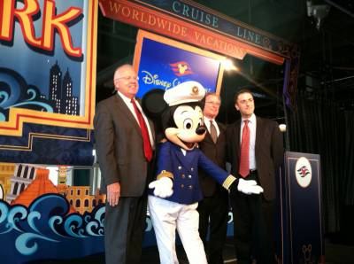 Mickey Mouse in NYC for the DCL 2012 Announcement