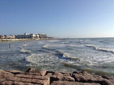 Photo illustrating Galveston Seawall