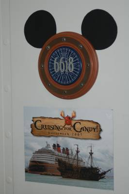 Photo illustrating <font size=1>Mickey Stateroom Door Ears