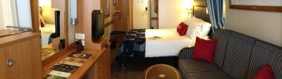 Photo illustrating <font size=1>Category 4 (Family) Stateroom - Disney Magic