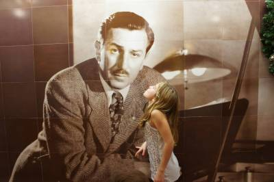 Photo illustrating A Kiss for Walt Disney