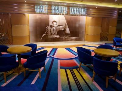 Photo illustrating <font size=1>Walt Disney Theatre Lobby on the Disney Magic