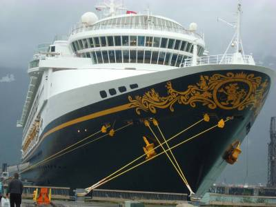 Photo illustrating <font size=1>Disney Wonder - docked in Skagway