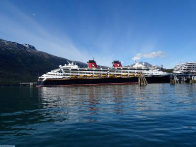 Photo illustrating Disney Wonder - in Skagway