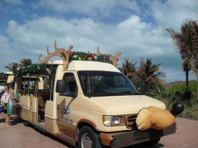 Christmas decorations on Castaway Cay photo