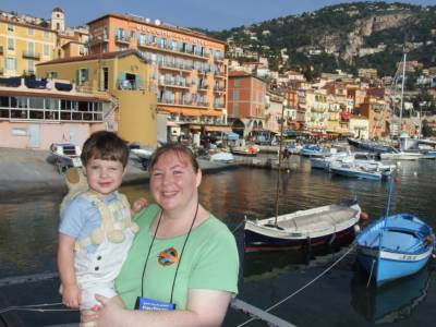 Jennifer and Alexander Marx at the Mediterranean Port of Villefranche