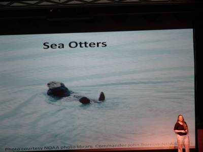Alaskan cruise - naturalist presentation photo