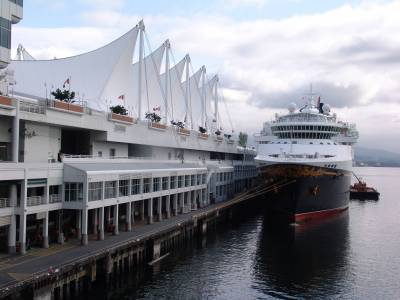 Alaskan cruise - Wonder moored at Vancouver