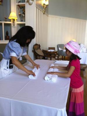 Photo illustrating BeachClubVillas-TowelFolding