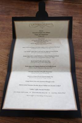 Victoria &amp; Alberts menu photo