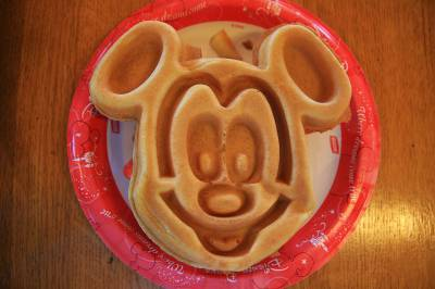 Port Orleans Riverside - Mickey Waffle!