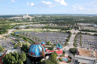 Photo illustrating The view toward Kissimmee from Downtown Disney