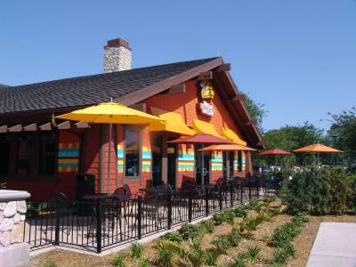Photo illustrating Downtown Disney - Pollo Campero