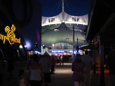 Photo illustrating <font size=1>Cirque Du Soleil Big Top at Downtown Disney