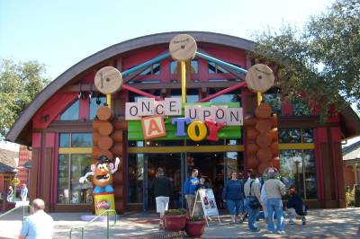 Photo illustrating <font size=1>Downtown Disney -Once Upon A Toy Exterior