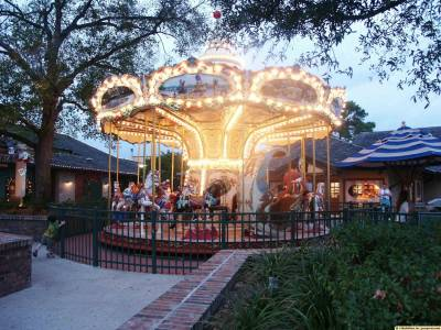 Merry Go Round at Downtown Disney Marketplace