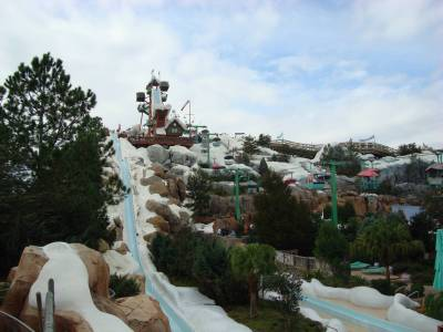 Blizzard Beach - Slush Gusher and chairlift