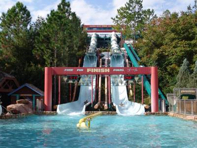 Photo illustrating <font size=1>Blizzard Beach - Downhill Double Dippers