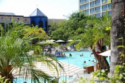 Photo illustrating <font size=1>Disneyland Hotel Never Land Pool