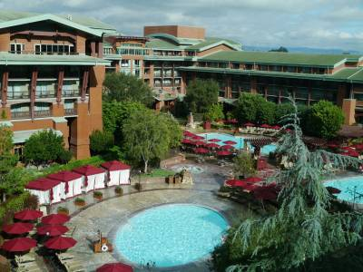 Photo illustrating <font size=1>Grand Californian - swimming pool from above