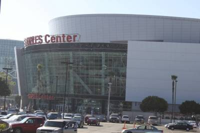 Photo illustrating <font size=1>Staples Center - Los Angeles