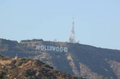 Photo illustrating Hollywood sign - taken from the Hollywood and Highland Center