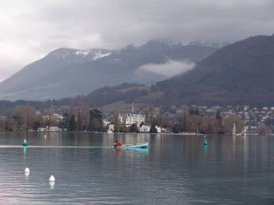 Annecy - view over lake photo