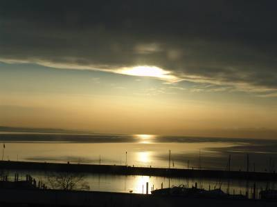 Lake Bodensee - Sunset over Konstanz photo
