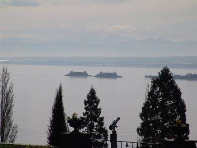 Lake Bodensee - ferries passing photo