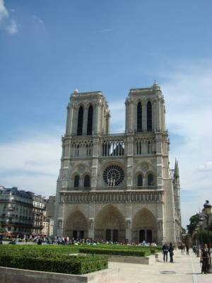 Photo illustrating <font size=1>Paris - Notre Dame Cathedral