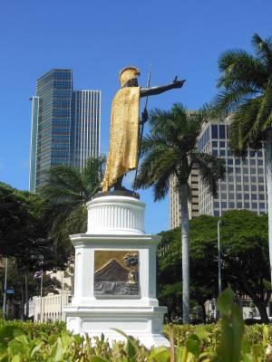 Photo illustrating Oahu - King Kamehameha statue