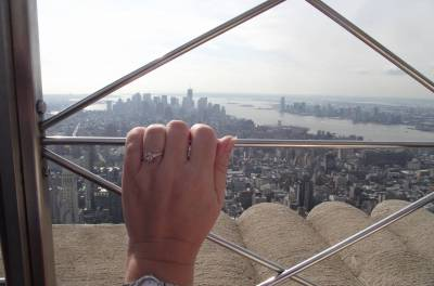 Engaged at the top of the Empire State Building! photo