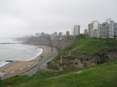 Pacific Coast of Lima, Peru photo