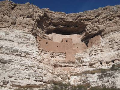 Montezuma Castle - Distant shot photo