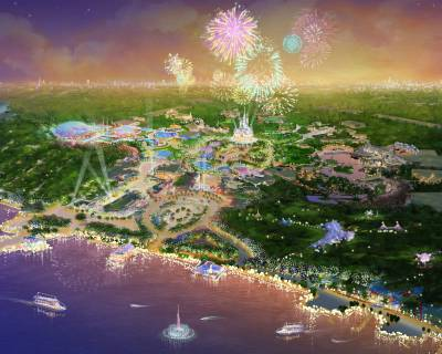 Photo illustrating Shanghai Disney Rendering