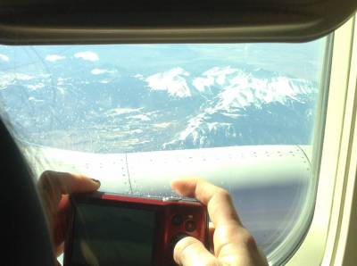 Photo illustrating Canadian Rockies from the plane