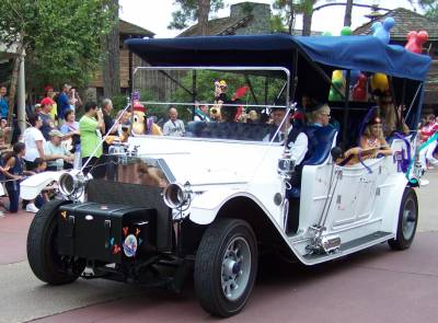 Photo illustrating Magic Kingdom - Car in Celebrate A Dream Come True Parade