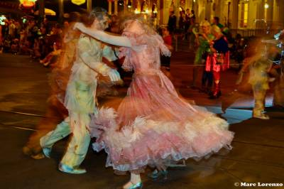 Photo illustrating Haunted Mansion Ballroom Dancers in the Boo to You Halloween Parade