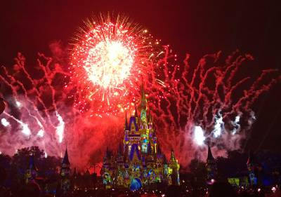 Photo illustrating Happily Ever After Fireworks Show at the Magic Kingdom