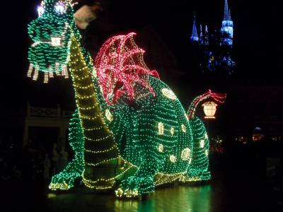 Photo illustrating Main Street Electrical Parade - Dragon